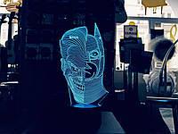 """3D ночник """"Джокер/Бетмен"""" 3DTOYSLAMP"""