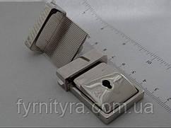 Замок 041 клавішний під ключик нікель