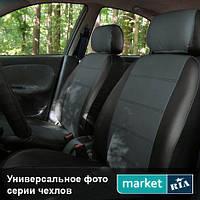 Чехлы на сиденья Nissan Almera из Экокожи (AVto-AMbition), полный комплект (5 мест)