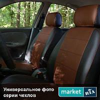 Чехлы на сиденья Mitsubishi Outlander из Экокожи (AVto-AMbition), передние (1+1)
