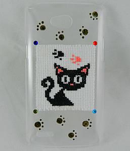 """Чехол накладка на LG L80 Dual SIM D380, ручной работы """"Котенок"""""""
