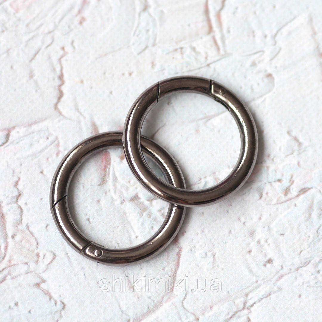 Кольцо-карабин KK05-2 (39 мм), цвет черный никель