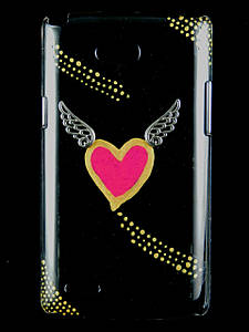 "Чехол накладка на LG L80 Dual SIM D380, ручной работы ""Flying Heart"""