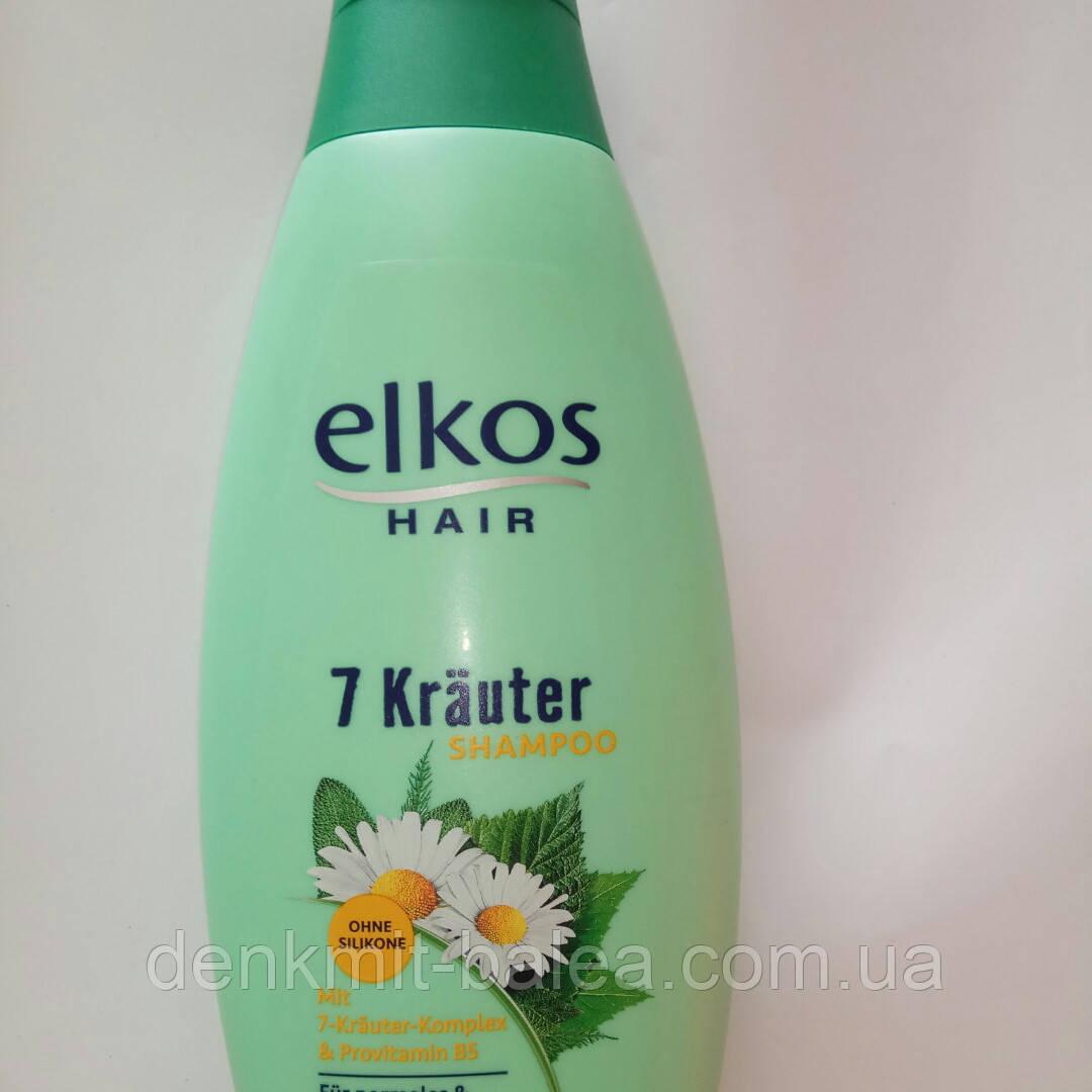 Шампунь Питание и Увлажнение волос  Elkos 7 Трав & Витамины 500 мл