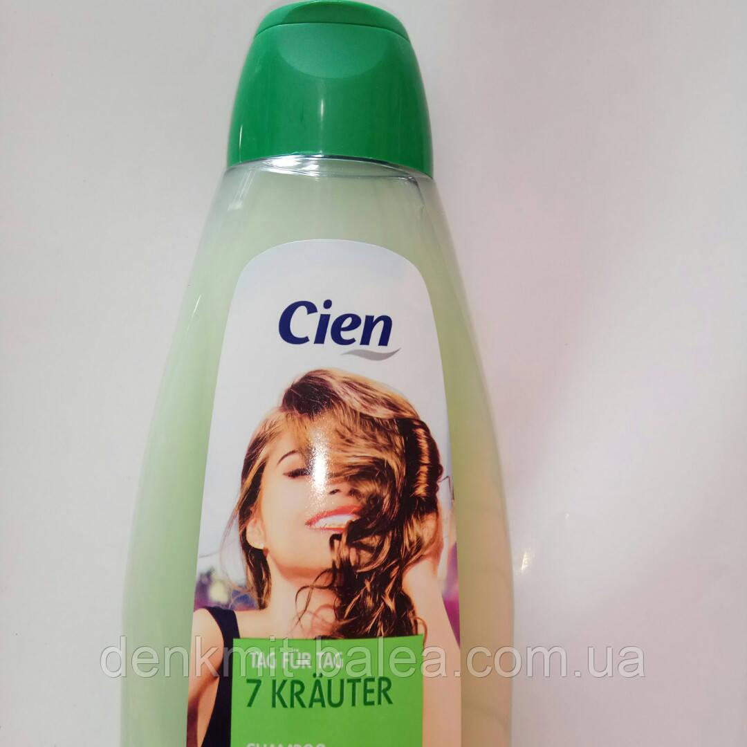 Шампунь  Свежесть и чистота для склонных к жирности волос  Cien  7 Трав и Алоэ вера   500 мл .