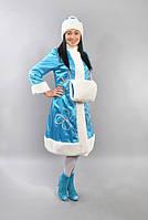 Карнавальный новогодний костюм Снегурочка бирюза
