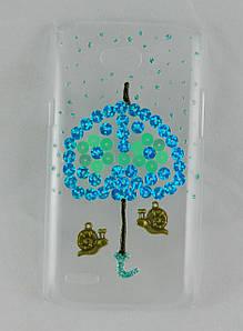 """Чехол накладка на LG L80 Dual SIM D380, ручной работы """"Погода в доме"""""""