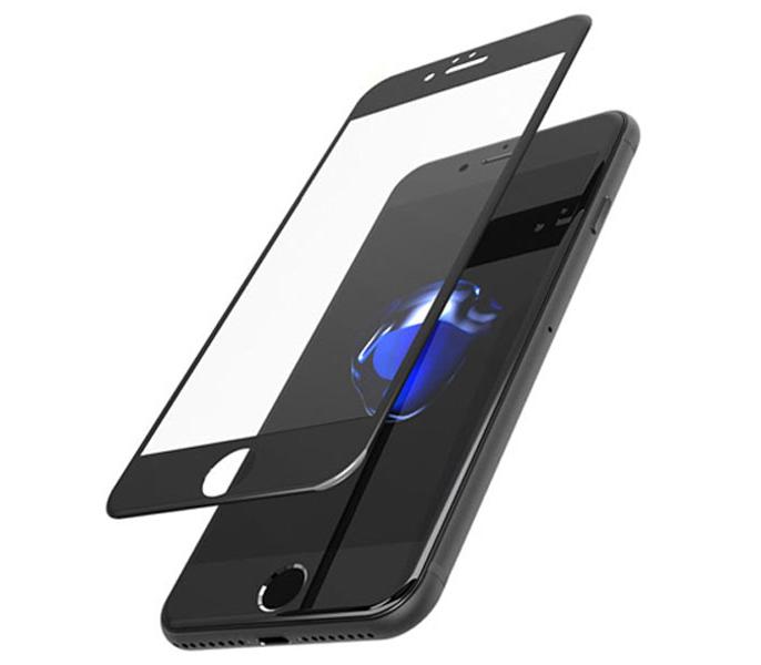 Защитное стекло iPhone 6 | 6S (0.3 мм, 3D, oleophobic) чёрное