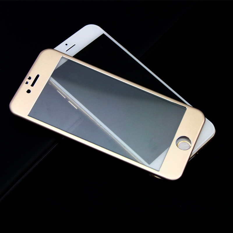 Защитное стекло iPhone 6 Plus   6S Plus (0.3 мм, 3D, oleophobic) золотистое