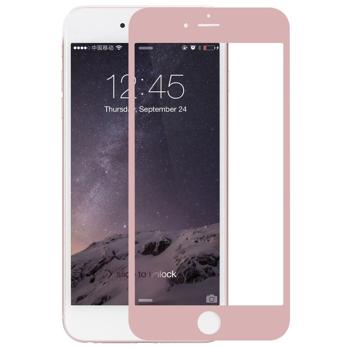 Защитное стекло iPhone 7 | iPhone 8 (0.3 мм, 3D, oleophobic) розовое золото