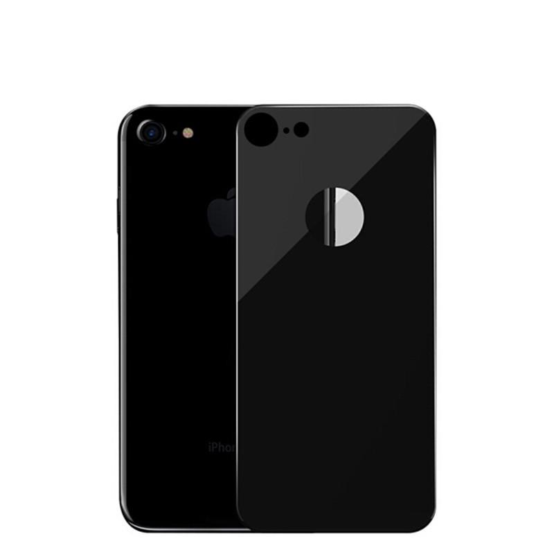 Защитное стекло iPhone 8 (0.3 мм, 4D, oleophobic) чёрное на заднюю сторону