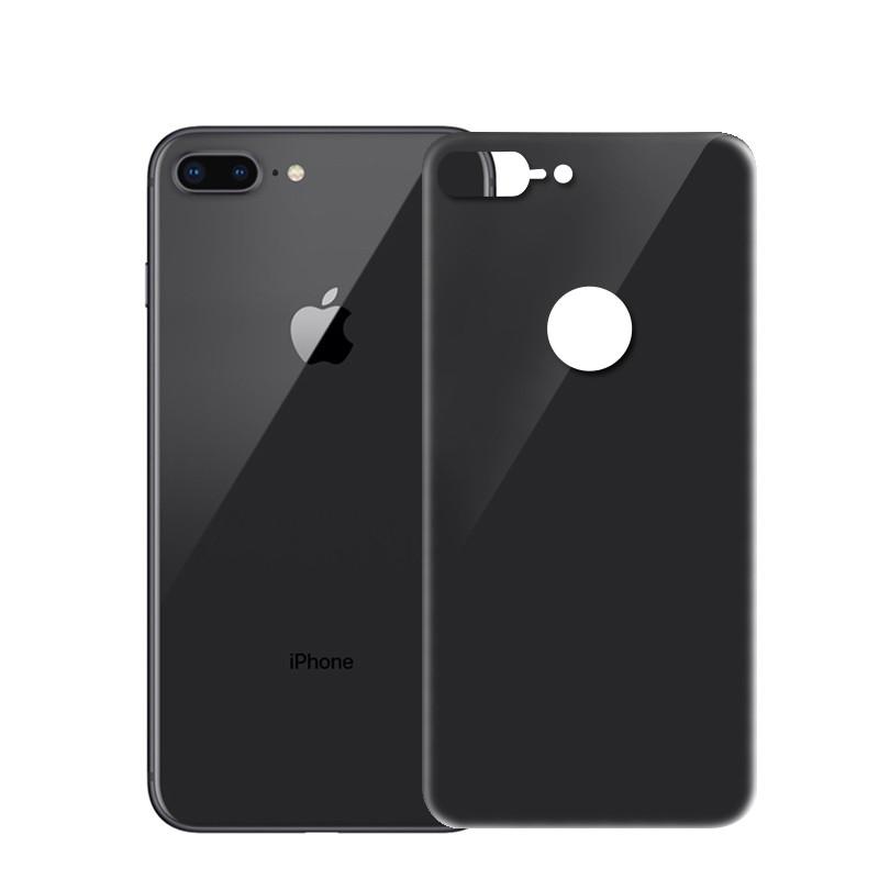 Защитное стекло iPhone 8 Plus (0.3 мм, 4D, oleophobic) чёрное на заднюю сторону