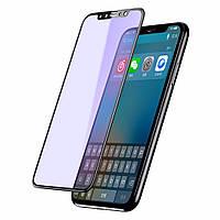 Защитное стекло iPhone X   XS (0.3 мм, 4D, oleophobic) чёрное