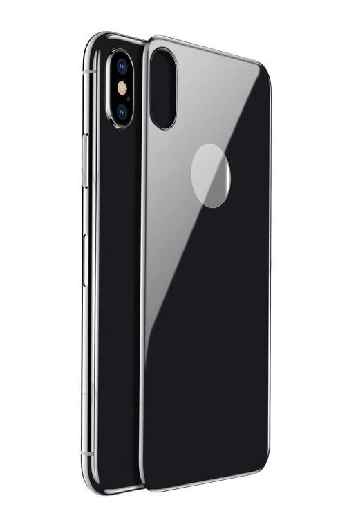 Защитное стекло iPhone X   XS (0.3 мм, 4D, oleophobic) чёрное на заднюю сторону