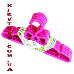 Вешалки детские костюмные ярко розового цвета, длина 295мм