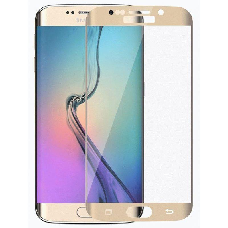 Защитное стекло Samsung G925 Galaxy S6 Edge (0.3 мм, 3D, oleophobic) золотистое
