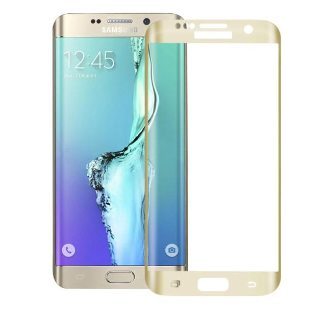 Защитное стекло Samsung G928 Galaxy S6 Edge+ (0.3 мм, 3D, oleophobic) золотистое