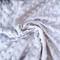 Плюш минки серо-бежевый, ширина 83 см, плотность 350 г/м, фото 1