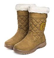 Ботинки женские Boots yellow 37 Коричневые (hub_qnOe41648)