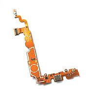 Шлейф (Flat, Flex cable) LG P715 Optimus L7 II с разъемом зарядки и компонентами