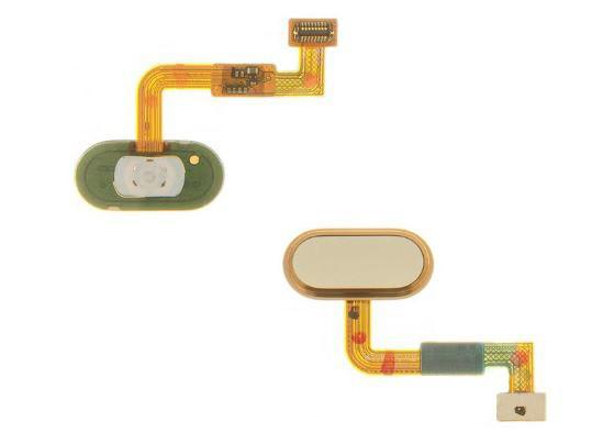 Шлейф (Flat, Flex cable) Meizu M3X с кнопкой меню (Home) золотой