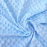 Плюш минки нежно-голубой, ширина 83 см, плотность 280 г/м, фото 1