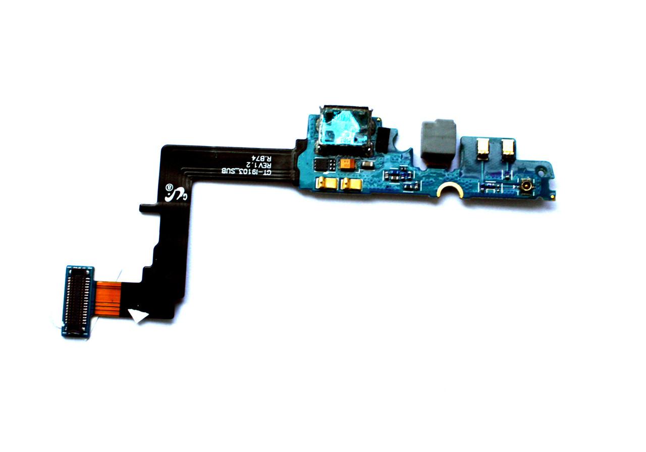 Плата нижняя (плата зарядки) Samsung i9100 с разъемом зарядки и компонентами (rev 1.5)