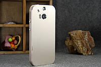 """HTC M8 Оригинальный противоударный цельнометаллический алюминиевый чехол бампер для телефона """"Metal case"""""""