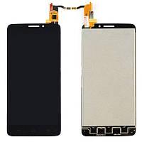 Дисплей (LCD) Alcatel One Touch Idol 6040 | 6040A | 6040X с тачскрином чёрный orig