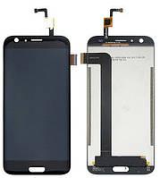 Дисплей (LCD) Doogee BL5000 с тачскрином чёрный