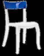 Стул Papatya Hera-S белое сиденье, верх прозрачно-синий, фото 1