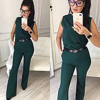 8b3d4743736 Женский стильный брючный костюм  блуза и брюки-клеш с высокой посадкой (в  расцветках