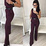 Женский стильный брючный костюм: блуза и брюки-клеш с высокой посадкой (в расцветках), фото 2
