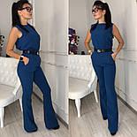 Женский стильный брючный костюм: блуза и брюки-клеш с высокой посадкой (в расцветках), фото 6