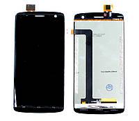 Дисплей (LCD) Fly IQ4503 Era Life 6 Quad с тачскрином, чёрный ориг. к-во