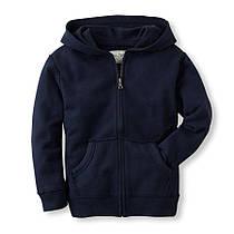 Худи-пуловертемно-синий на молнии для мальчика 6-8 лет The Children's Place (США)