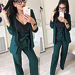 Женский качественный брючный костюм: пиджак на подкладке и брюки с высокой посадкой ( в расцветках), фото 2