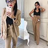 Женский качественный брючный костюм: пиджак на подкладке и брюки с высокой посадкой ( в расцветках), фото 3