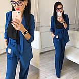 Женский качественный брючный костюм: пиджак на подкладке и брюки с высокой посадкой ( в расцветках), фото 4