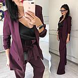 Женский качественный брючный костюм: пиджак на подкладке и брюки с высокой посадкой ( в расцветках), фото 6