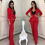 Женский качественный брючный костюм: пиджак на подкладке и брюки с высокой посадкой ( в расцветках), фото 7