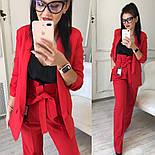 Женский качественный брючный костюм: пиджак на подкладке и брюки с высокой посадкой ( в расцветках), фото 8