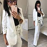 Женский качественный брючный костюм: пиджак на подкладке и брюки с высокой посадкой ( в расцветках), фото 9