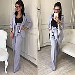 Женский качественный брючный костюм: пиджак на подкладке и брюки с высокой посадкой ( в расцветках), фото 10