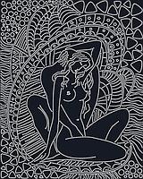 Схема  вышивки бисером на атласе Нежность (Черный)