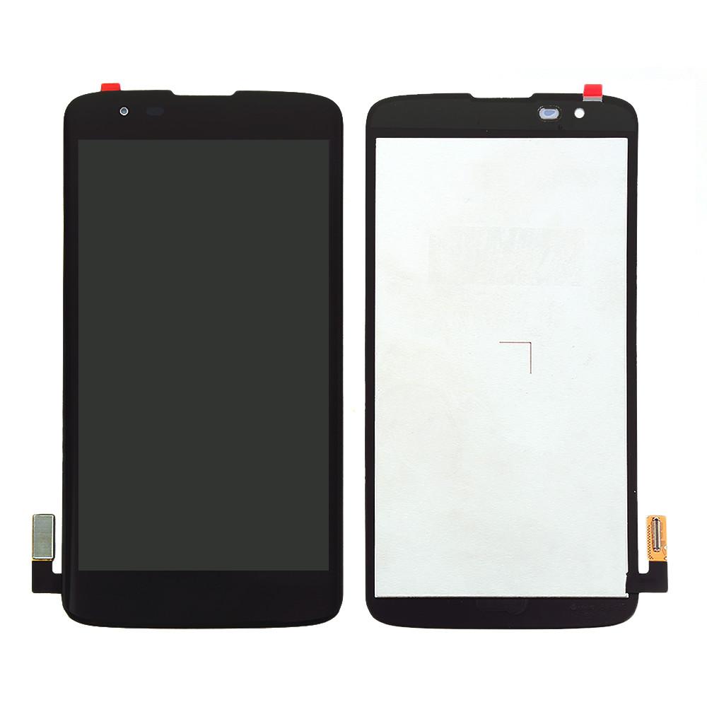 Дисплей (LCD) LG MS330 K7 | Tribute 5 LS675 с тачскрином, чёрный