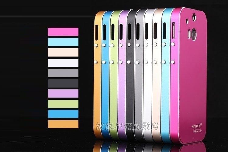"""HTC M8 Оригинальный противоударный цельнометаллический алюминиевый чехол бампер для телефона """"Sinuode"""""""