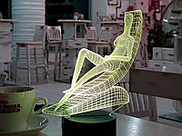 "3D ночник ""Медитация 3"" 3DTOYSLAMP, фото 1"