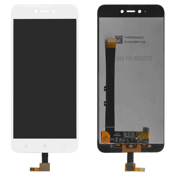 Дисплей (LCD) Xiaomi Redmi Note 5A | Y1 Lite с тачскрином, белый ориг. к-во