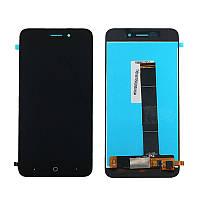 Дисплей (LCD) ZTE A601 с тачскрином чёрный